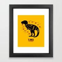 Dino Deli Framed Art Print