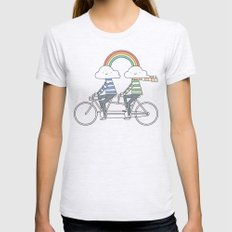 Love makes life a beautiful ride Womens Fitted Tee Ash Grey SMALL