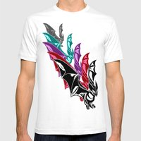 Bat Attack! RMX Mens Fitted Tee White SMALL