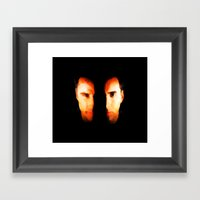 Face Off - Portrait Painting Style Framed Art Print