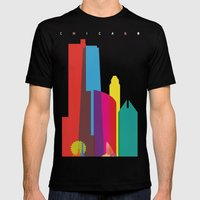 Shapes Of Chicago. Accur… Mens Fitted Tee Black SMALL