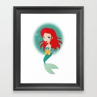 Sweet Mermaid Framed Art Print