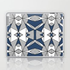 Triangle Tribal #2 Navy Laptop & iPad Skin