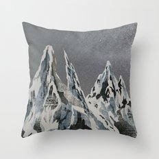 Mountains - Winter Sky Throw Pillow