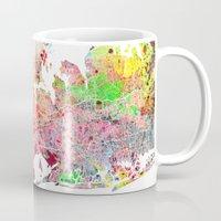 New York map splash painting Mug