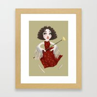 Winged Queen Framed Art Print