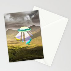 Aliens do exist - dino exctinction event Stationery Cards