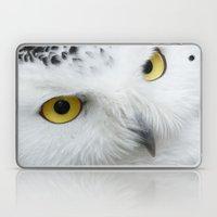 Snowy Owl Eyes Laptop & iPad Skin