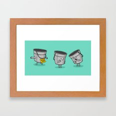 Kick the Bucket Framed Art Print