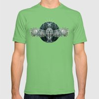 The Owl Mens Fitted Tee Grass SMALL