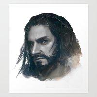 thorin BnW Art Print