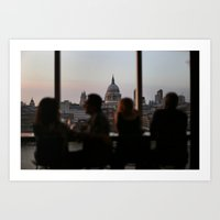 dinner with a view Art Print