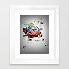 Rock and Roll living Framed Art Print