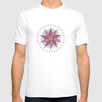 Stargroove Flower Mens Fitted Tee White SMALL