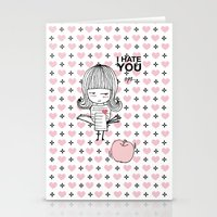 I Hate You / Guglielmo T… Stationery Cards