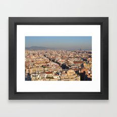 A View of Barcelona Framed Art Print