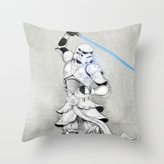 Samurai Trooper Throw Pillow