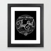 dont worry Framed Art Print