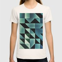 :: geometric maze VII :: Womens Fitted Tee Natural SMALL