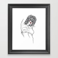 mean Framed Art Print