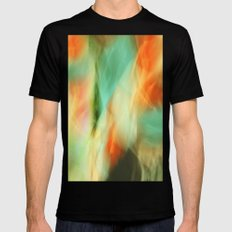 Abstract Art II Blue/Black/Green/Red Black SMALL Mens Fitted Tee