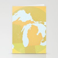 The GREAT LAKES of NORTH AMERICA Stationery Cards