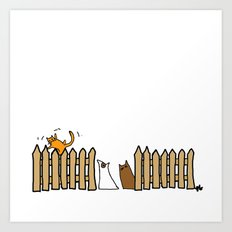 Fence. Art Print