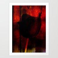 Venus Rose Red Art Print