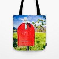 Red Mailbox Tote Bag