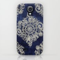Cream Floral Moroccan Pa… Galaxy S4 Slim Case