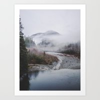 Fog Mountain Art Print