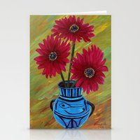 Blue Vase With Flowers/ … Stationery Cards