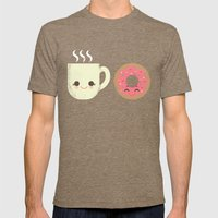 Coffee and Donut Buds Mens Fitted Tee Tri-Coffee SMALL