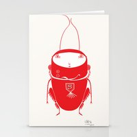 Red Cricket Stationery Cards