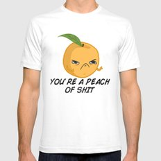 Sour food puns - Youre a Peach of sh*t Mens Fitted Tee SMALL White