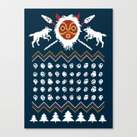 Ugly Mononoke Sweater Canvas Print