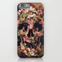 skull iPhone & iPod Cases featuring Jungle Skull by Ali GULEC