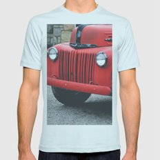 Vintage Fire Truck Mens Fitted Tee Light Blue SMALL