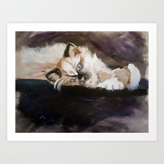 Ragdoll Kitty Art Print