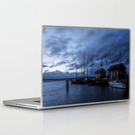 Blue Hour At Harbour Laptop & iPad Skin
