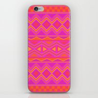 Tribal Pattern (Pink & Orange) iPhone & iPod Skin