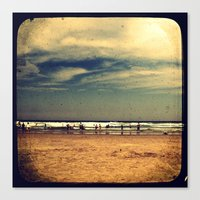 Vintage Beach - Through … Canvas Print