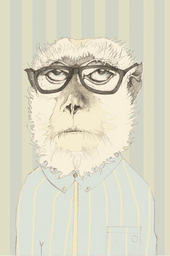 monkey gafapasta Art Print