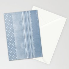 Blue and Gold Abstract Patterns Stationery Cards