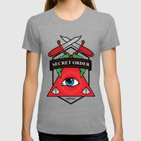 Secret Order Womens Fitted Tee Tri-Grey SMALL