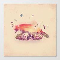 Woodlands Fox Canvas Print