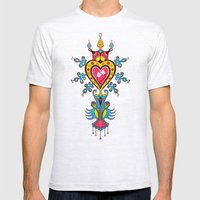 The Heart Rules Mens Fitted Tee Ash Grey SMALL