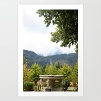 Fountain In The Mountain… Art Print