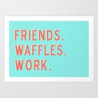 PARKS AND REC FRIENDS WA… Art Print