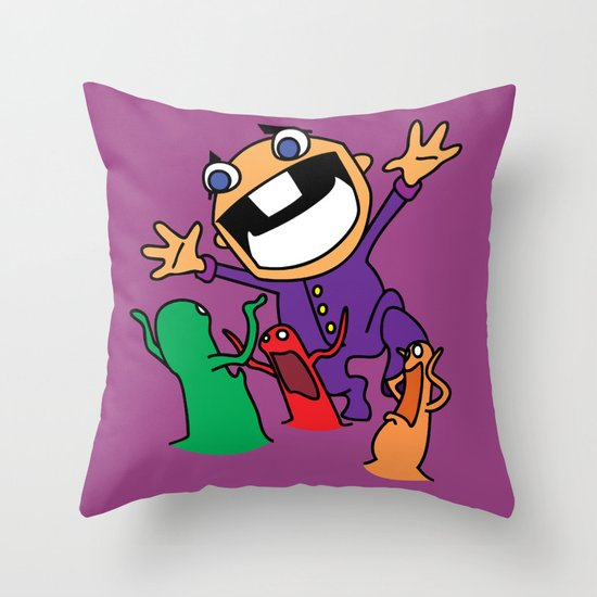 Alien Evasion Throw Pillow